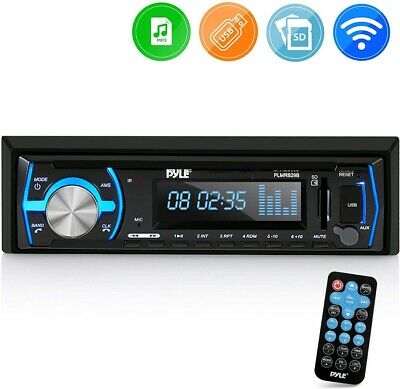 $57.95 • Buy Marine Bluetooth Stereo Radio - 12v Single DIN Style Boat In Dash Radio Recei...