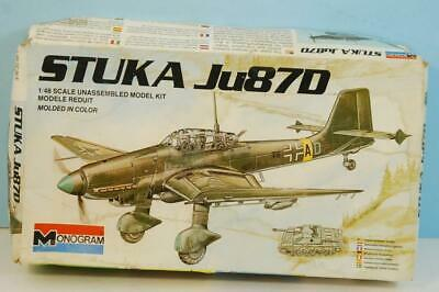 $15 • Buy 1983 Stuka Ju87D 1:48 Monogram Model Kit Made In U.S.A.