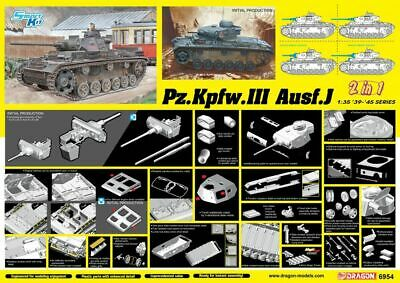 Dragon 1/35 Pz.Kpfw.III Ausf.J Initial/Early Production (2 In 1) # 6954 • 55.30£