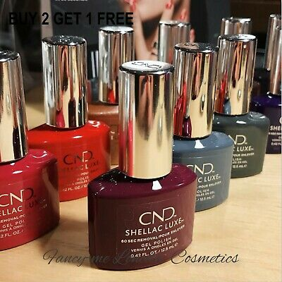 CND SHELLAC Luxe Nail Gel Polish UV Led NEW BOXED    BUY 2 GET 1 FREE + FREE PP • 9.99£