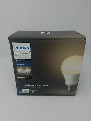 AU117.43 • Buy Philips Hue White Smart Bulb Starter Kit 4 Bulbs And 1 Hub Bridge