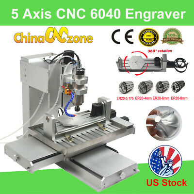 $ CDN4499.38 • Buy 5 Axis CNC 6040 Router 3D Cutting Milling Engraving Machines Engraver 2200W US
