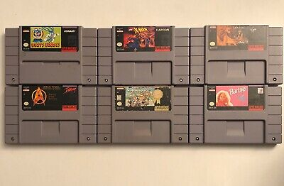 $ CDN100 • Buy Lot Of 6 SNES (Super Nintendo) Games: Mario Kart, X-Men, Lion King +++