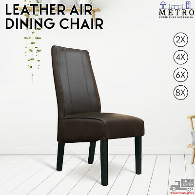 AU2036 • Buy 2,4,6,8 Leather Air Brown Dining Chair, With Solid Timber Dark,Espresso Legs
