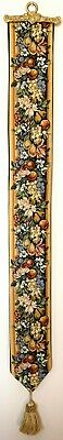 Bacchus Lined Belgian Tapestry Bell Pull Wall Hanging + Brass Hanger 00276 • 39.98£