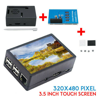 AU29.99 • Buy For Raspberry Pi A B 3.5'' Inch TFT Touch Screen LCD Display Monitor+ Case* AU