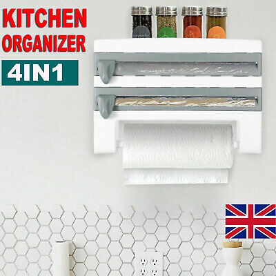 Cling Film And Kitchen Foil Dispenser Paper Towel Roll Holder Wall Mounted Rack • 13.79£