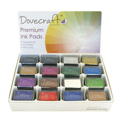 Dovecraft Pigment Ink Pads15 Colours Acid Free And Non-toxic  7cm X 4.5cm • 2.98£