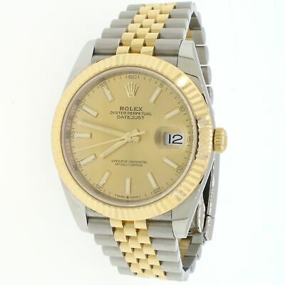 $ CDN16003.51 • Buy Rolex Datejust 41 Champagne Index Dial Mens Jubilee Watch 126333 Box And Papers