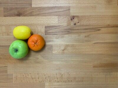 SOLID BEECH WOOD WORKTOP 1.5m / 3m X 620mm X 27mm  TOP QUALITY WOOD! Best Value! • 79£
