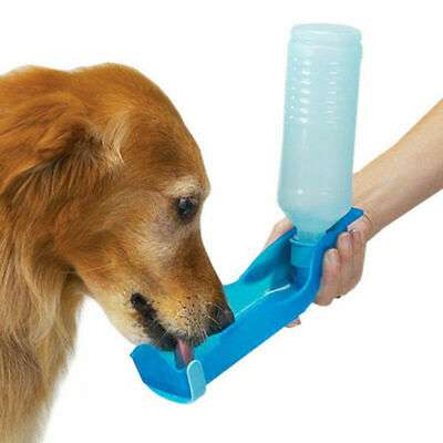 Set Of 2 Portable Pet Dog Water Bottle Dog Bowl Drinking Outdoor Dispenser 500ml • 5.19£
