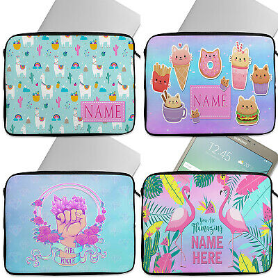 Personalised Girls Tablet Laptop Cover Sleeve Universal Case Neoprene Cute Gift • 12.95£