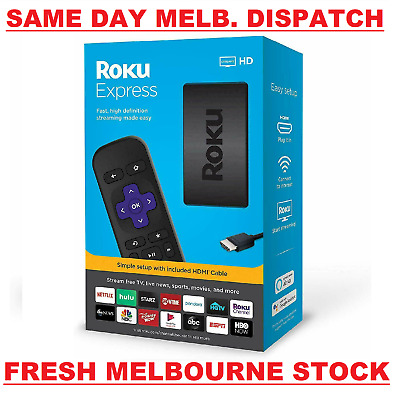 AU76.75 • Buy Roku Express Latest Edition 3930R HD 1080p HDMI TV Streamer Netflix Prime Video