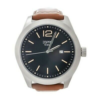 Esprit Misto Men's Quartz Watch With Black Dial Analogue Display & Brown Leather • 25£