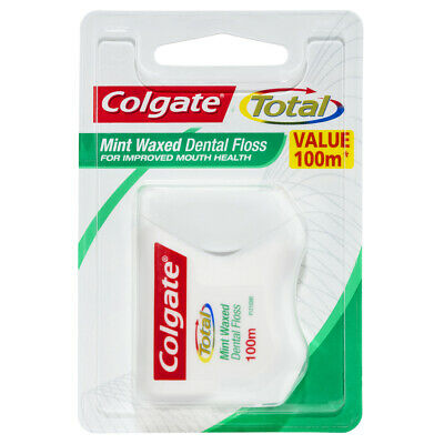 AU17.04 • Buy Colgate Total Mint Waxed Durable Oral Care Dental Floss 100m