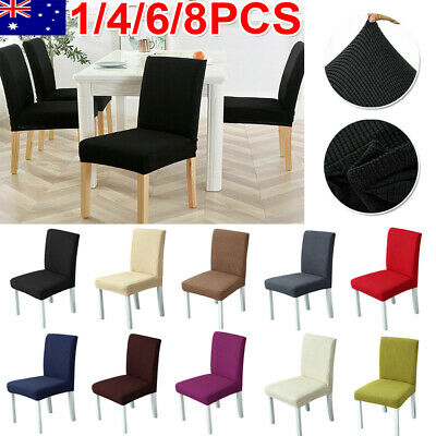 AU32.99 • Buy 1-8PCS Washable Chair Cover Stretch Removable Slipcover Banquet Furniture Covers