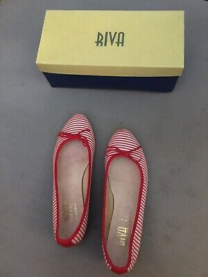 £12 • Buy Red Strippey Riva Shoes Size 41