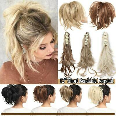 £10.99 • Buy Top 12  Short Claw Ponytail Piece Clip In On Pony Tail Hair Extensions As Human