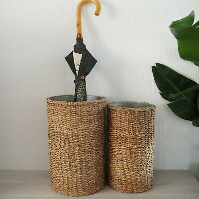 AU57.95 • Buy Seagrass Umbrella Stand With Tin Insert Small Or Large Hamptons Home Decor