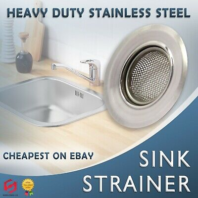 Stainless Steel Sink Bath Plug Hole Strainer Drainer Basin Hair Trap Cover • 3.20£