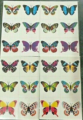 24 X Butterfly Temporary Tattoos Kids Girls Party Birthday Bag Fillers Toy Fun  • 1.65£