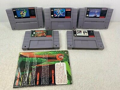 $ CDN89.99 • Buy Lot Of 5 SNES Games Mega Man X Mario World Donkey Kong Mystic Quest NHL