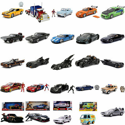 Jada Hollywood Rides 1:24 1:32 Diecast Model Car Choice • 12.95£