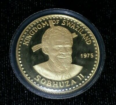 $325 • Buy 1975 Kingdom Of Swaziland 50 Emalangeni Gold Coin - 75th Ann. King Sobhuza II