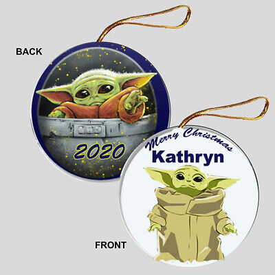 $8.99 • Buy PERSONALIZED Baby Yoda Christmas Ornament - Xmas Gift The Child Star Wars