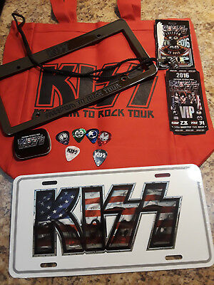 $41.65 • Buy KISS 2016 Freedom To Rock V.I.P. Package Goodies COMPLETE W/ Bag Picks Passes!