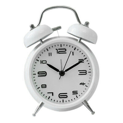 AU20.97 • Buy Wind Up Mechnical Alarm Clock Analog Mechanical Bell Alarm Clock-White