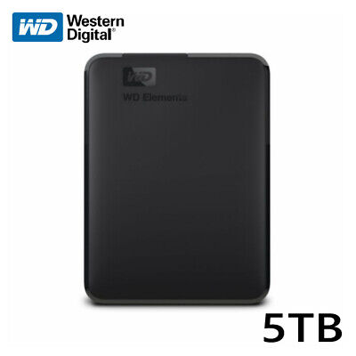 AU198.36 • Buy WD 5TB Elements Portable External Hard Drive <BLACK> USB 3.0 - With Tracking#