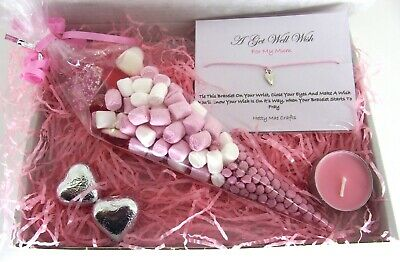 Personalised GET WELL SOON Hamper Gift MUM SISTER AUNTIE DAD SON UNCLE GRAN • 3.99£