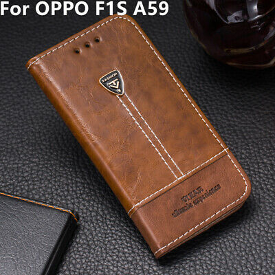 AU10.66 • Buy For OPPO F1S A59 Phone Case Back Cover PU Leather Flip Wallet Stand Card Slots