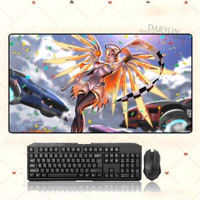 AU28.42 • Buy GAME Overwatch Mercy Extra Large Mouse Pad Free Shipping(32'' * 16'')