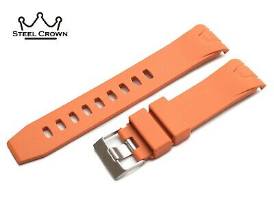 22mm For OMEGA Seamaster Planet Ocean Watch Silicone Rubber Strap Orange Buckle  • 19.50£