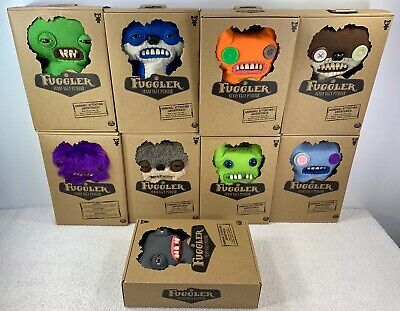 """$ CDN199.99 • Buy Lot Of 9 Different/Assorted BRAND NEW SEALED FUGGLER 9"""" Plush Funny Ugly Monster"""