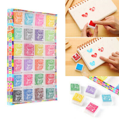 24 Colors Rubber Stamps Pigment Ink Pads For Paper Wood Fabric Craft • 6.99£