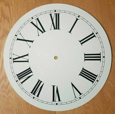 £18.95 • Buy NEW - 12 Inch Clock Dial Face - Off White Antique Finish 305mm Roman Num - DL35