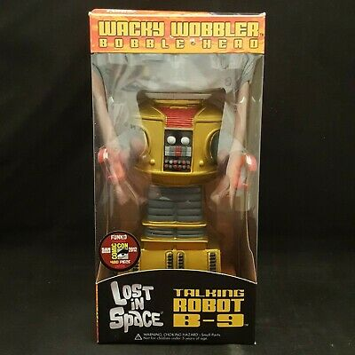 AU79.96 • Buy Funko Lost In Space B-9 Robot Gold Sdcc 2012 Exclusive Wacky Wobbler Bobble Head