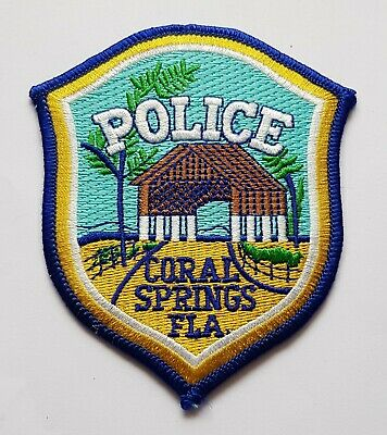Obsolete Original Police Coral Springs Florida Badge America USA  • 5.99£