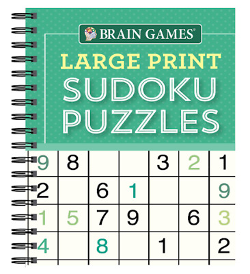 $9.99 • Buy NEW - BRAIN GAMES - Large Print Sudoku Puzzles Book (Green)