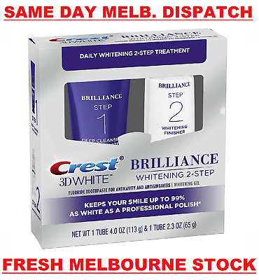 AU49.95 • Buy Crest 3d White Brilliance Daily Cleansing Toothpaste & Whitening Gel System New