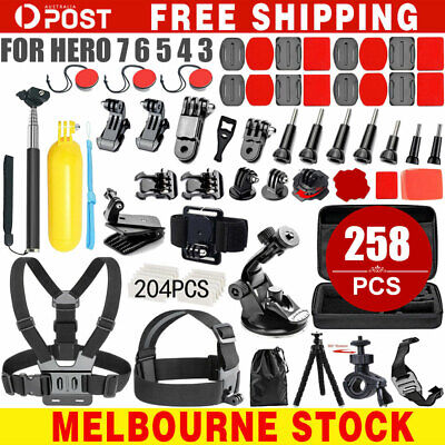 AU34.99 • Buy Accessories Pack Case Chest Head Monopod For GoPro Go Pro HD Hero 8 7 6 5 4 3+