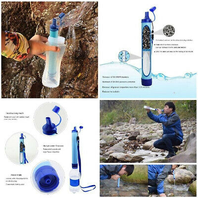 Outdoor Water Filter Straw Filtration System Purifier For Traveling Camping • 8.15£