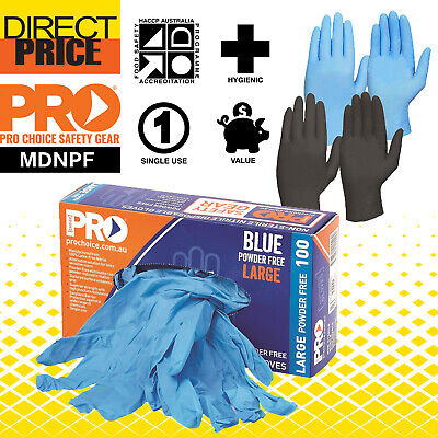AU26.95 • Buy 100pcs Industrial Nitrile Disposable Gloves Powder & Latex Free Medical/ Food