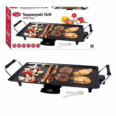 £28.95 • Buy Electric Teppanyaki Table Top Grill Griddle Hot Plate Steak Cooking Stone