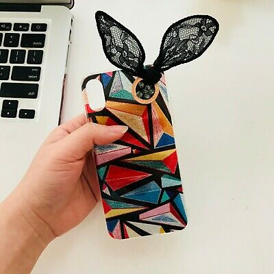 Cute Holographic Colorful Bunny Ears Iphone X XS Case • 7.47£