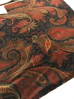 $180 • Buy Etro Authentic Cotton Velvet Fabric Price For 2.00m X 140 Cm Made In Italy