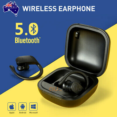 AU31.95 • Buy Sweatproof Wireless Bluetooth Earphones Headphones Sport Gym Earbuds With Mic
